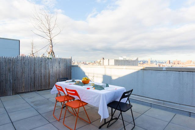 Beautiful private roof terrace with Manhattan view