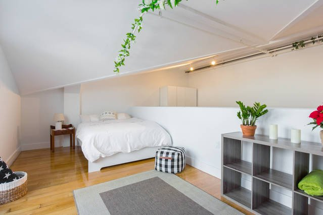 Cozy and spacious 3rd BD with a huge private terrace. Comfortable queen bed and a work space
