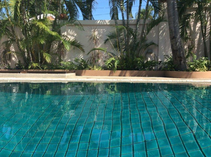 Pool. view to established gardens