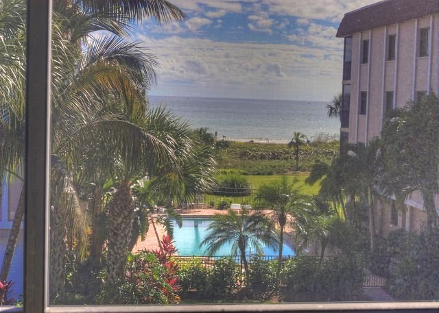 Gulf of Mexico view from the screened lanai