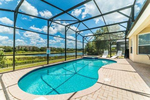 Windsor Hills Orlando Lakefront Villa Pool