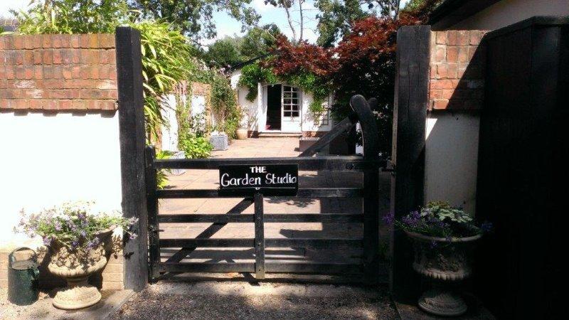 The entrance to the Garden Studio.