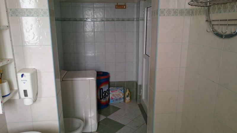 Bathroom with bidet and washing machine, entrance 3