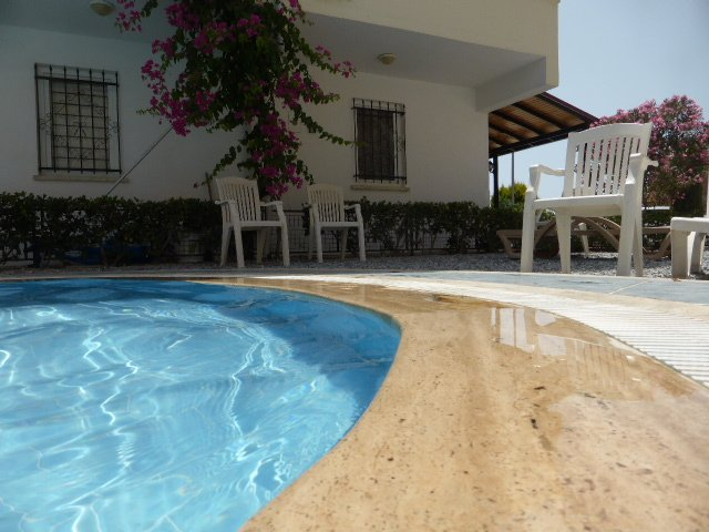 Pool is only 3 metres from the entrance door to Villa Efes