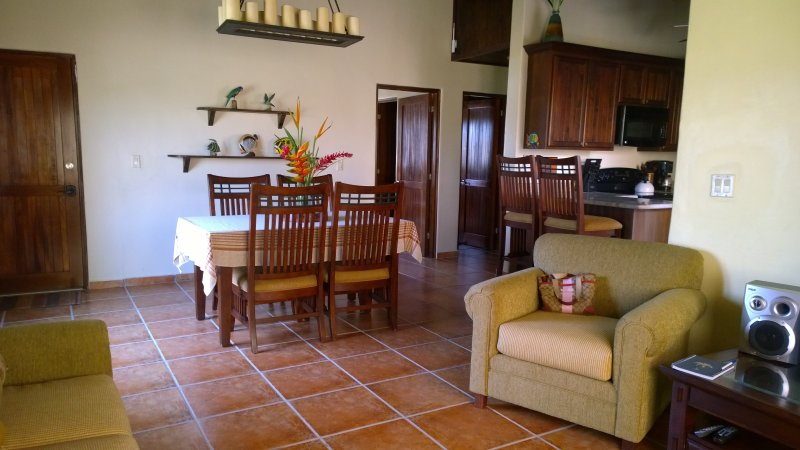Bliss² living room ,dining and kitchen are open and feels very spacious.