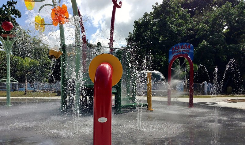 Across The Street Children's Park with Splash Park