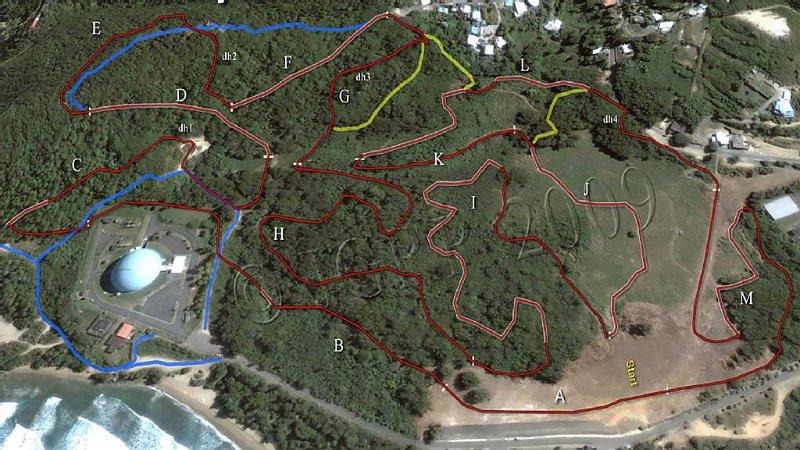 Mountain Bike & Hiking Routes on Rincon at 9 Minutes.