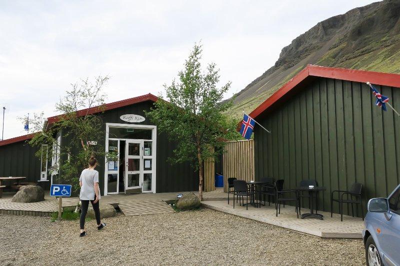 Kaffi Kjós, little store,restaurant,bar. 2 km away.