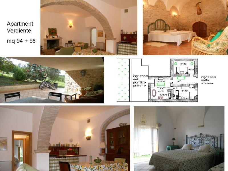 appartamento 'Il Verdiente', holiday rental in Montedinove