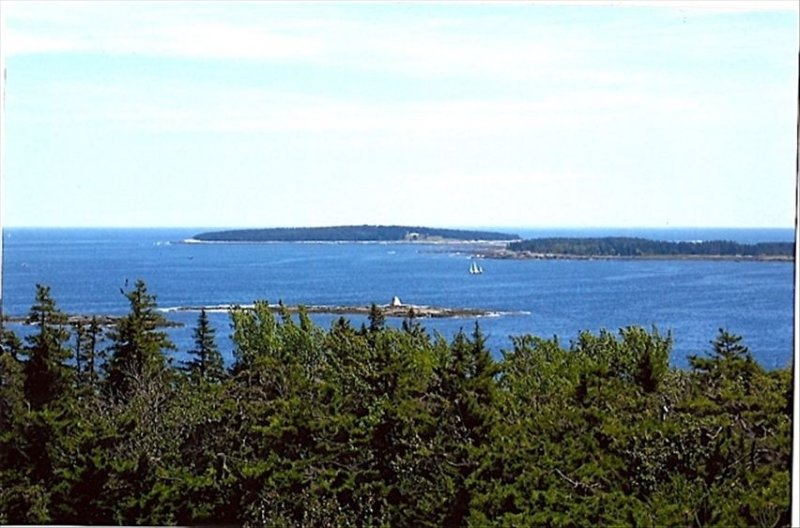View from Terrace of Bakers, Little Cranberry, and Bunkers Ledge