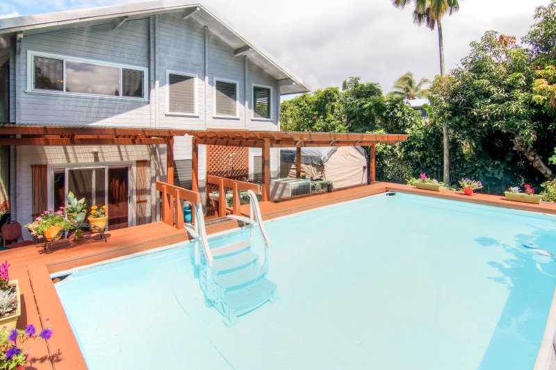 Escape to this tropical 1-bedroom, 1-bath vacation rental apartment in Pahoa!