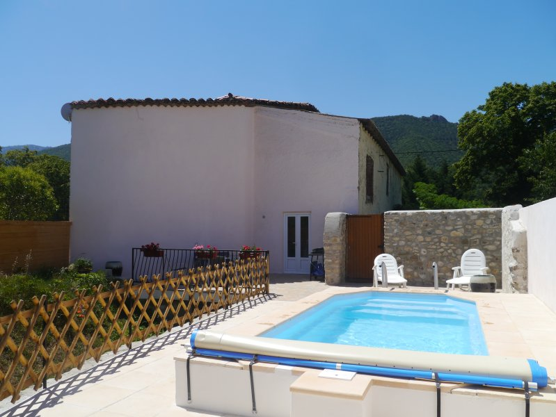 Sole use of enclosed terrace with pool (2.2x4.6metres), dining and cooking area