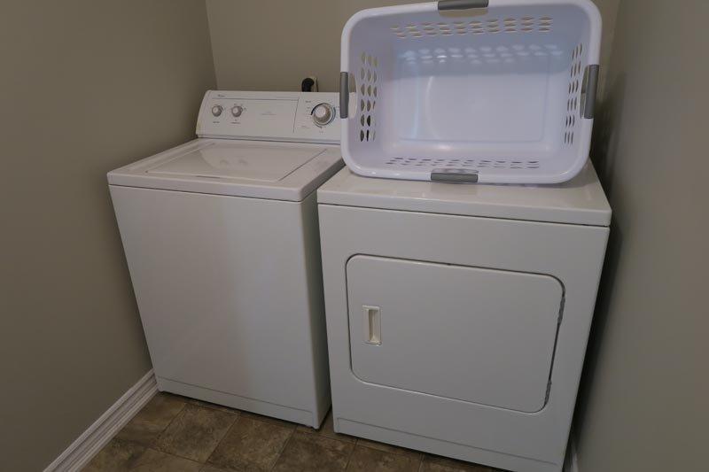 Dentro de la suite Área de lavandería
