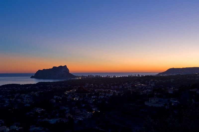View from the Villa to the rock of Calpe