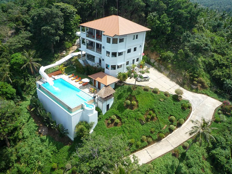 LULU Ko Samui, As seen on TV, THE WaterSlide VILLA, holiday rental in Mae Nam