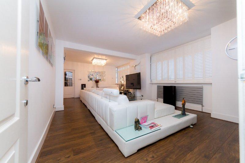 amplia sala de estar y cómodo