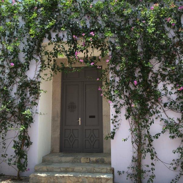 Front door of Casa Lilac
