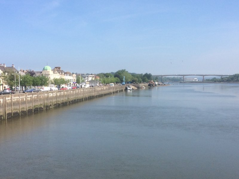 Bideford from the Old Bridge