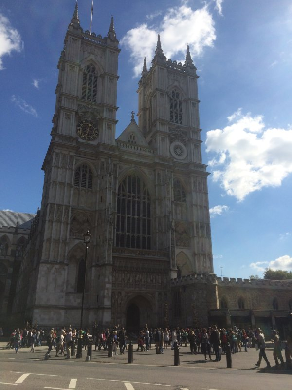 Westminster Abbey is across Parliament Square from Big Ben and the Houses of Parliament.