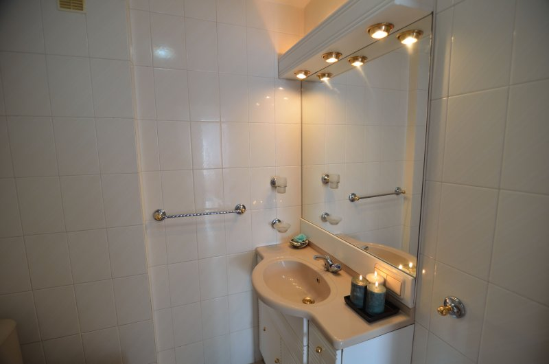 Functional bathroom with shower