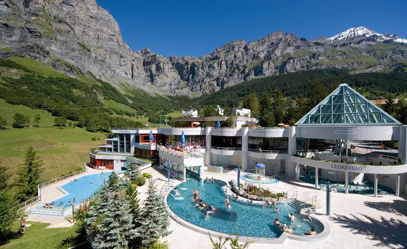 Leukerbad Spa is under an hours drive away