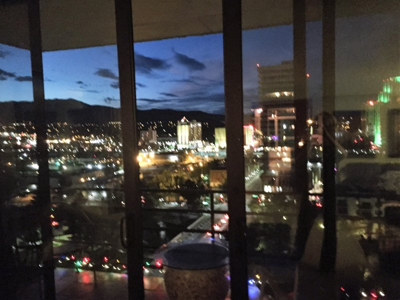 Downtown Reno views from living room....