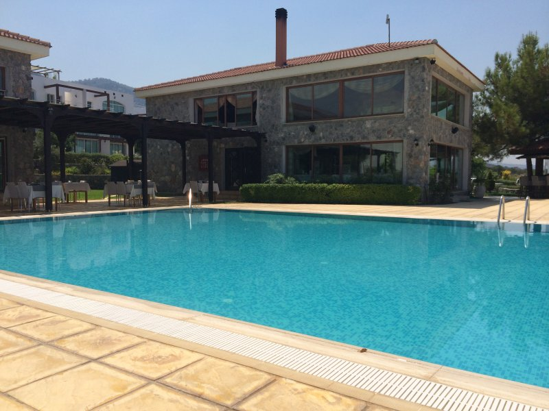 Main swimming pool at the Restaurant