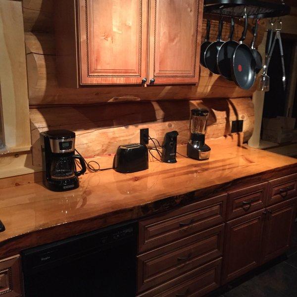 Pine slab counters
