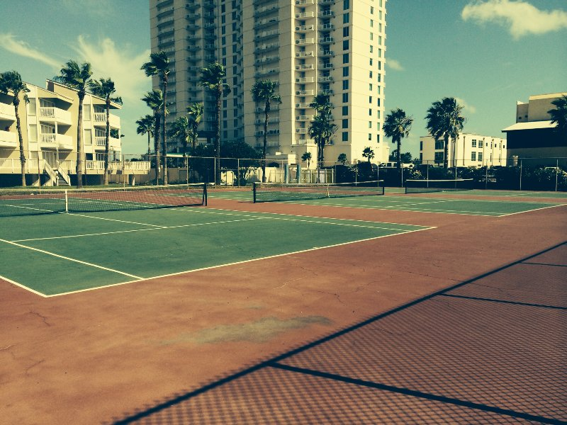 Tennis courts.  You will need the key from the Manager of Gulfpoint Condos.