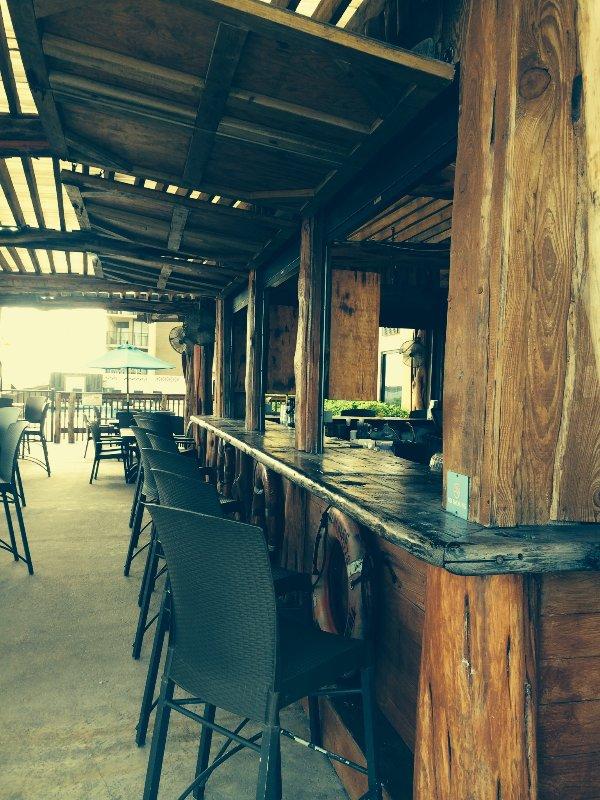 The Bar at Schlitterbahn next to the Broadwalk to the beach.