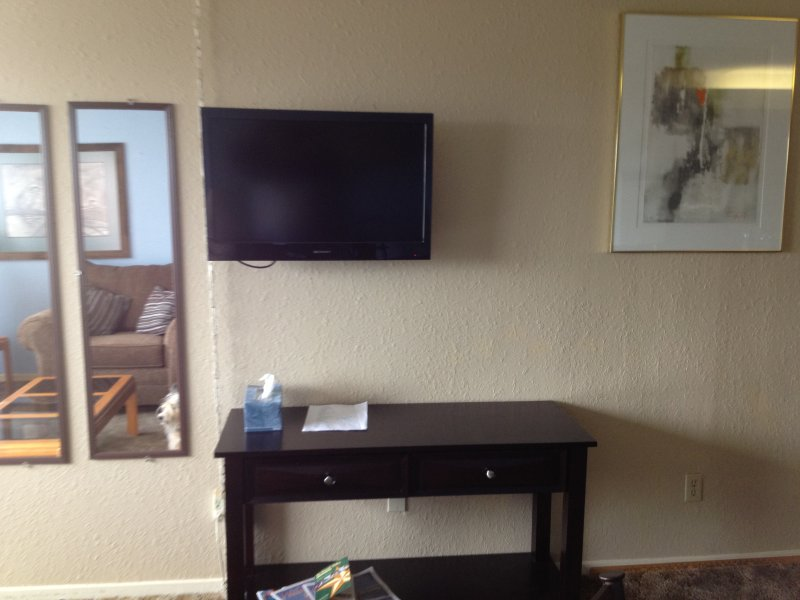 Television in living area.