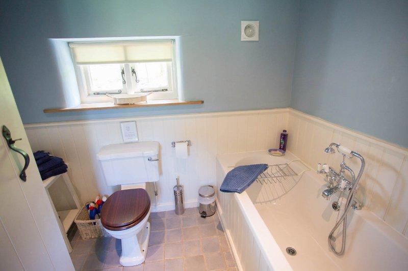Luxury bathroom with heated floor