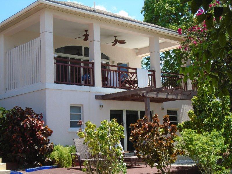 Apartment mit Blick auf den Garten 'n Strand
