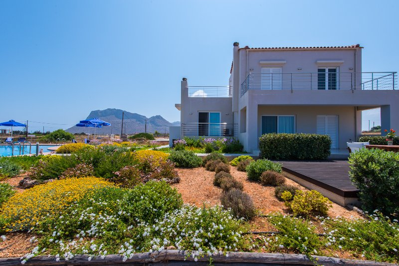 enjoy a Cretan view with all the comforts and a salty water pool!