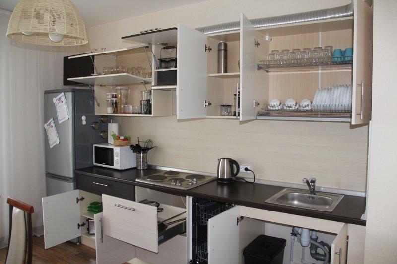 Kitchen.Equipped con lavavajillas y todos los electrodomésticos necesarios. TV y utensilios de cocina.