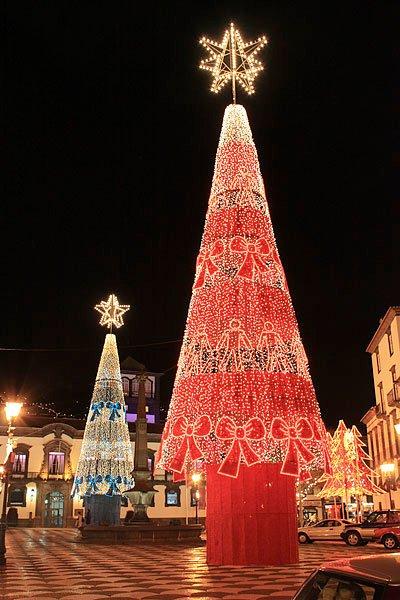Las luces de Navidad Funchal