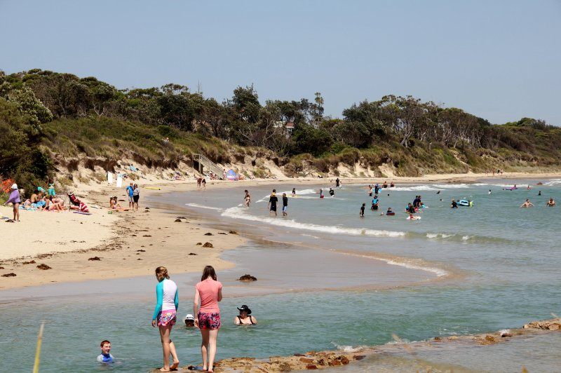 The main beach & creek are accessed across the road