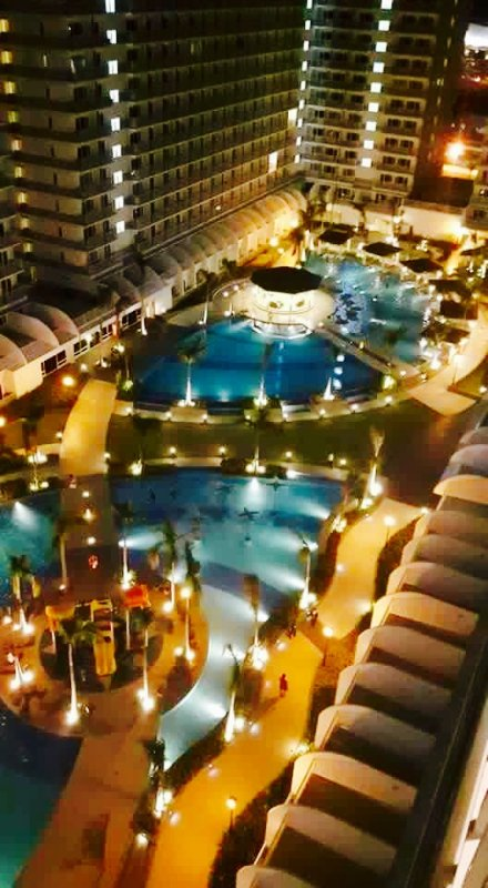 Breathtaking nighttime view of the amenities, offering relaxation to guests after a long day.