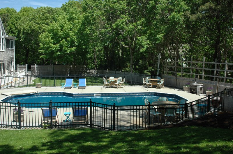 Pool View from the Side of back yard