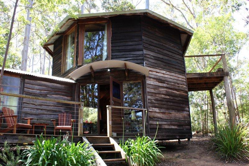Two storey hexagonal building...The Yurt