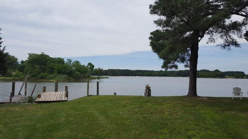 Park your boat and jet skis in our two boat slips.