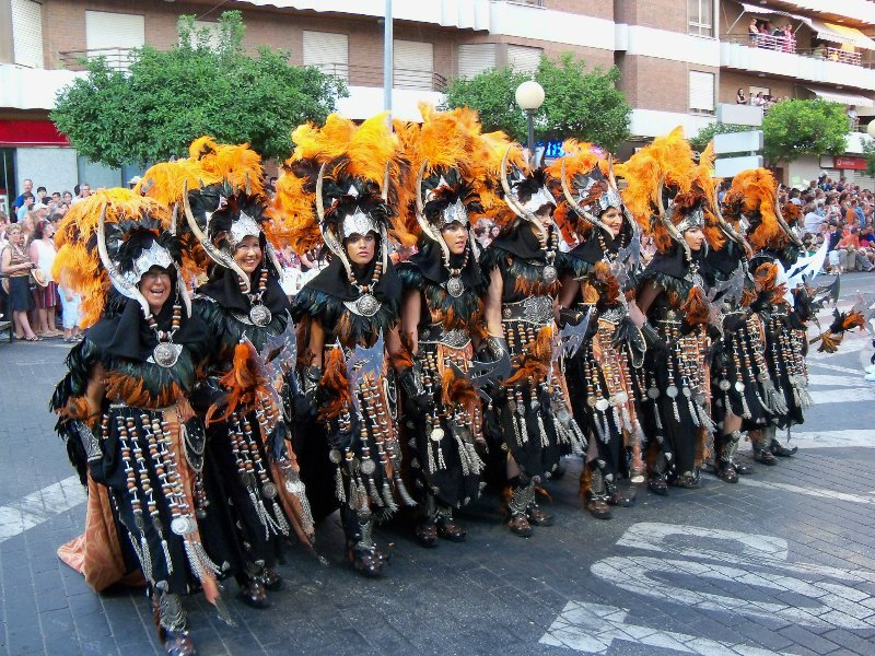 One of the many fabulous fiestas held in Oliva, this one is the Moor & Christians 3rd w/e of July