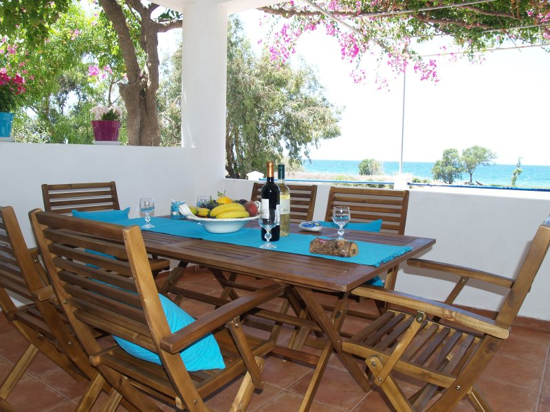 VILLA MAGICAL SUNSET BEACH FRONT IN  QUIET BEACH, holiday rental in Kamiros Scala