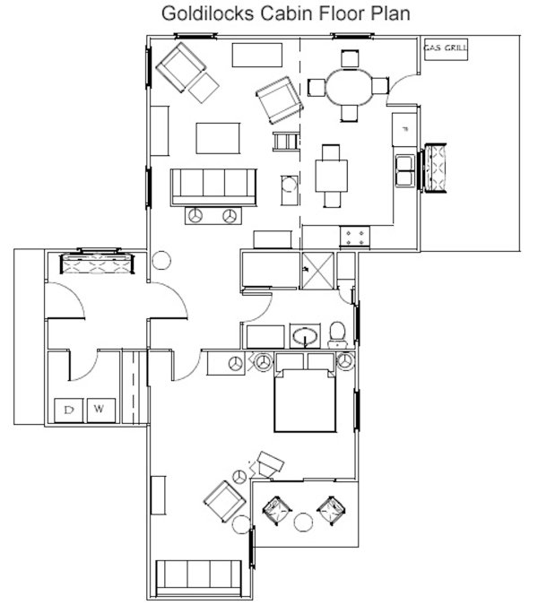 Floor Plan of This Stowe Vacation Rental