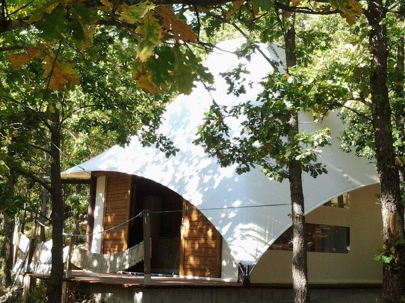 Lodge de charme 2chrs  tt équipée piscine vue magnifique au calme, holiday rental in Bastelica