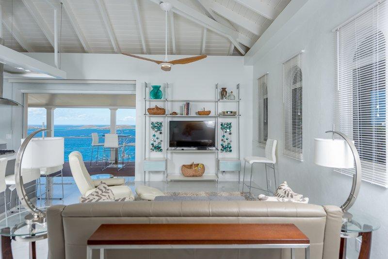living area w/ Caribbean Sea