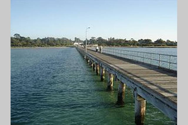The very popular Rosebud pier that it has been all renovated