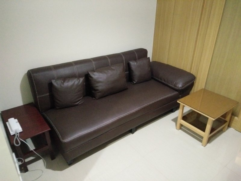 Sofa Bed with side tables