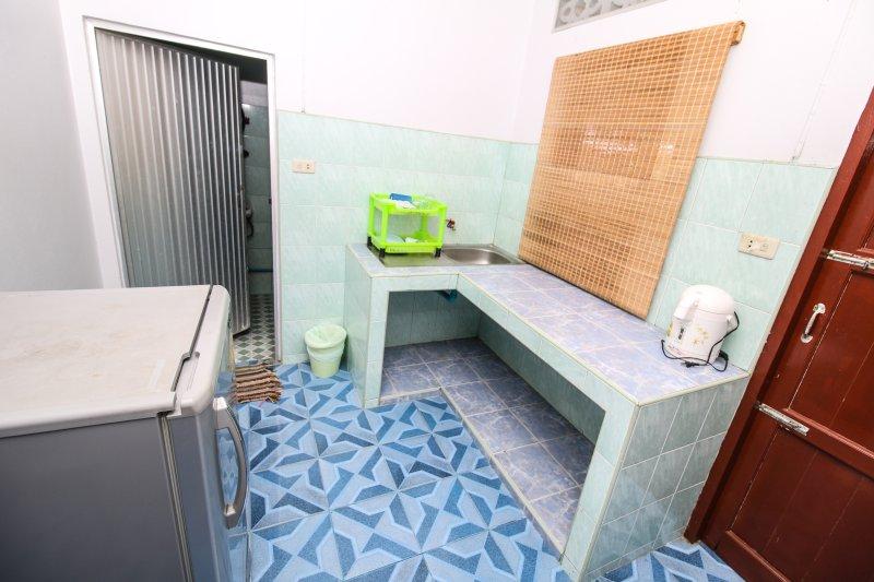 Bath room and kitchen area