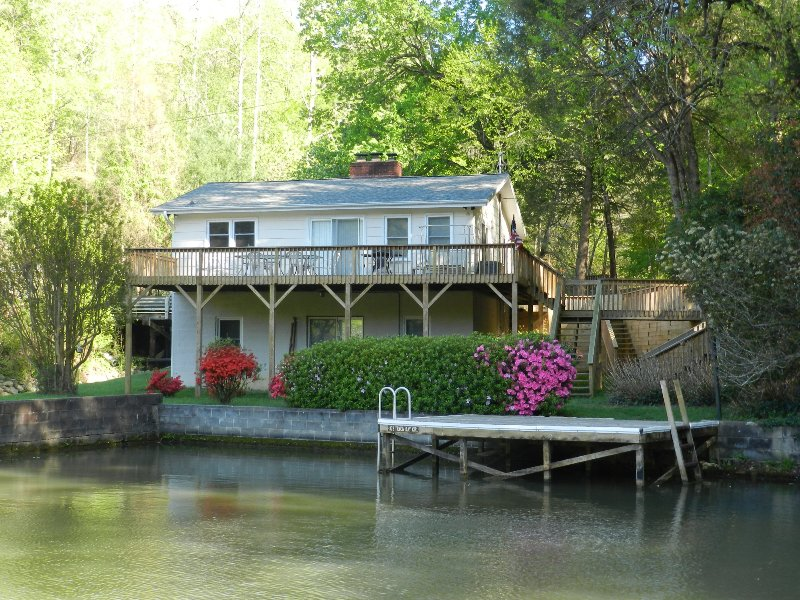 View of house and dock from the lake